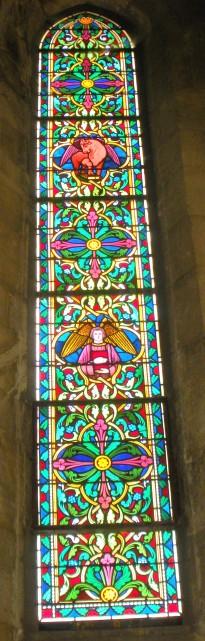 Grisaille représentant les évangélistes Saint Luc et Saint Mathieu