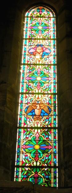 Grisaille représentant les évangélistes Saint Marc et Saint Jean