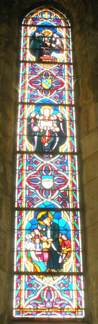 vitrail de Saint Pierre Fourier